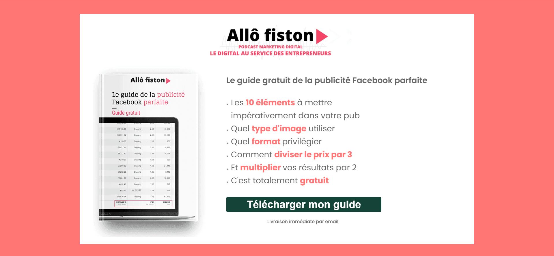 Landing Facebook Allô Fiston