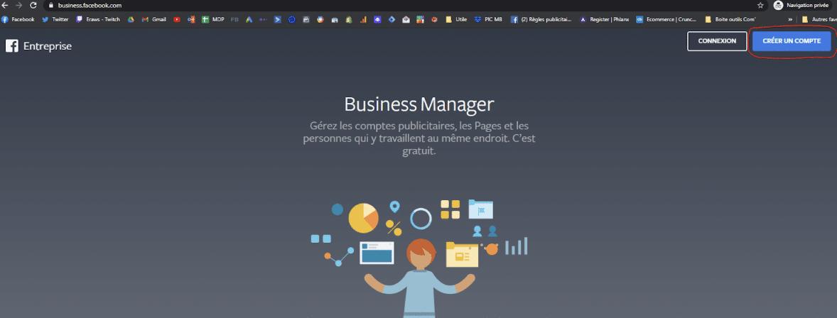 Ouvrir un compte business manager