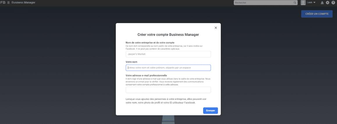 Votre compte business manager