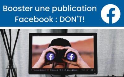 « Booster une publication » sur Facebook : Mauvaise idée