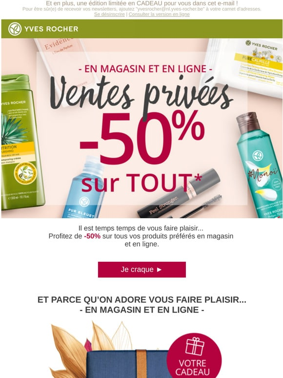 mail Yves rocher